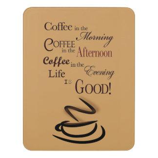 Coffee Room Sign, Foam Adhesive Door Sign