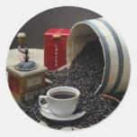 Coffee Round Sticker