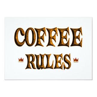 COFFEE RULES 13 CM X 18 CM INVITATION CARD