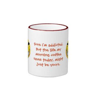 Coffee Saved Your Life Ringer Coffee Mug