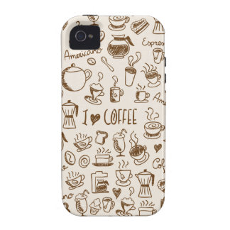 Coffee Scribble Vibe iPhone 4 Cases