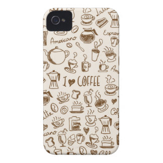 Coffee Scribble iPhone 4 Case-Mate Cases