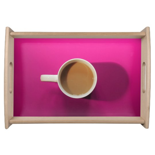 Coffee Serving Tray Hot Pink