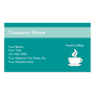 Coffee Shop Business Cards