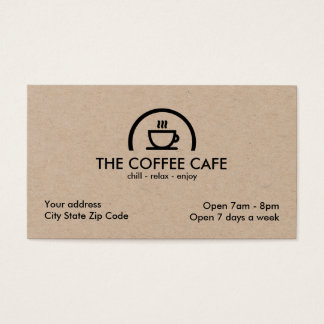 Coffee Shop Cafe Business Card
