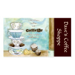 Coffee Shop Cappuccino, Espresso n Latte cards Pack Of Standard Business Cards