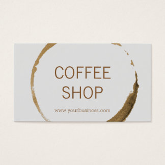 Coffee Shop - coffee stain Business Card