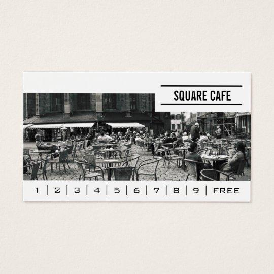 Coffee Shop Custom Photo Banner Loyalty Business Card