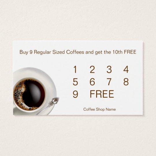 Coffee Shop Customer Loyalty Drink Cards