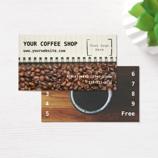Coffee Shop Loyalty Business Card