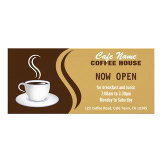 Coffee Shop Menu Brown and Beige Cafe Rack Cards Rack Cards