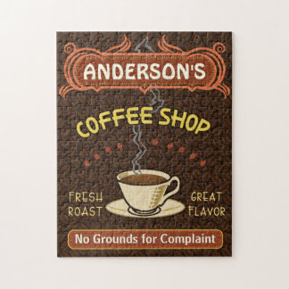 Coffee Shop Mug Create Your Own Personalized Brown Jigsaw Puzzle