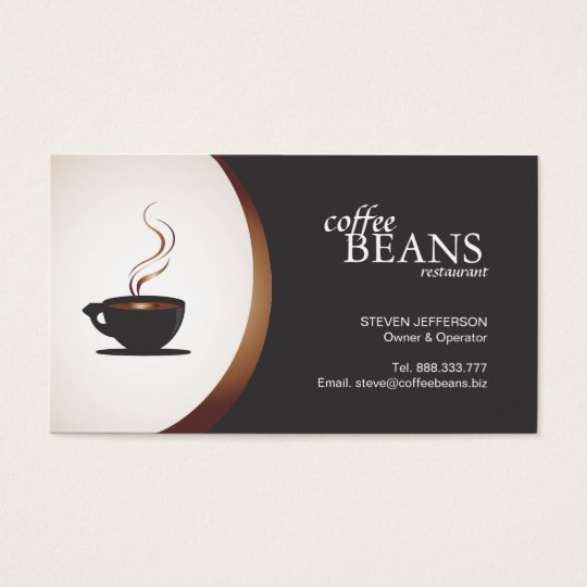 Coffee Shop or Bakery Business Cards
