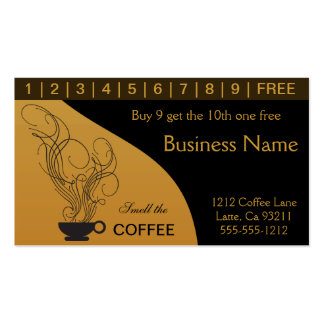 Coffee Shop Punch Card Pack Of Standard Business Cards