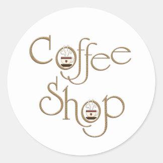 Coffee Shop Round Sticker