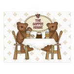 Coffee Shop Teddy Bears Postcards