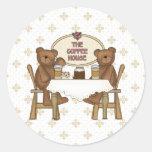 Coffee Shop Teddy Bears Sticker