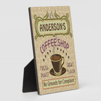 Coffee Shop with Cup Create Your Own Personalized Plaque