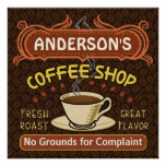 Coffee Shop with Mug Create Your Own Personalised Poster