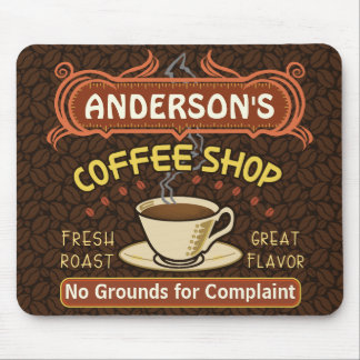 Coffee Shop with Mug Create Your Own Personalized Mouse Mat