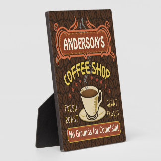 Coffee Shop with Mug Create Your Own Personalized Photo Plaques