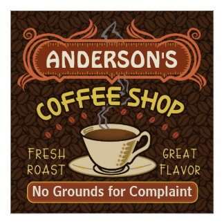 Coffee Shop with Mug Create Your Own Personalized Poster