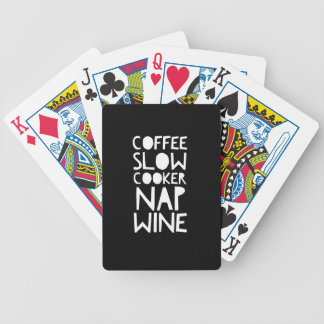 Coffee, Slow Cooker, Nap, Wine Bicycle Playing Cards