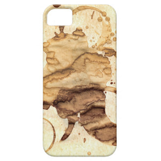 Coffee spills - Cool hand-made coffee spill design iPhone 5 Cases