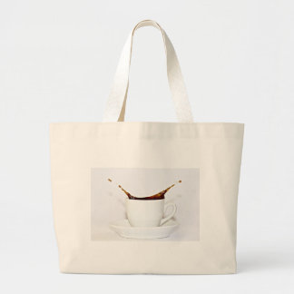 Coffee splash tote bags