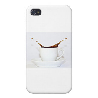 Coffee splash cover for iPhone 4