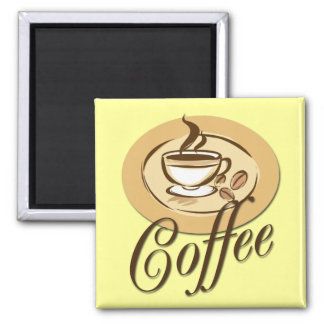 COFFEE SQUARE MAGNET