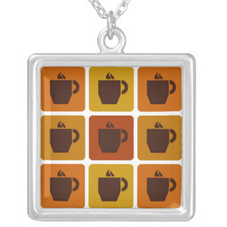 Coffee Squares necklace