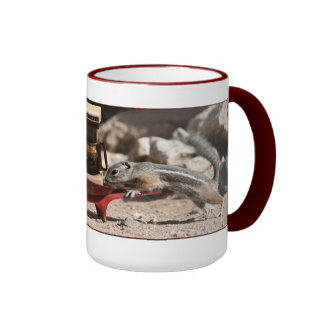 Coffee Squirrels Ringer Mug