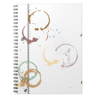 Coffee Stain Typeart Grunge Pattern Notebook