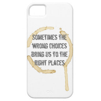 Coffee Stain with Quote iPhone 5 Covers