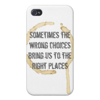 Coffee Stain with Quote iPhone 4 Case