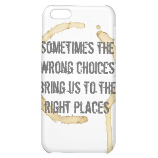 Coffee Stain with Quote Case For iPhone 5C