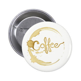 Coffee stained button pin