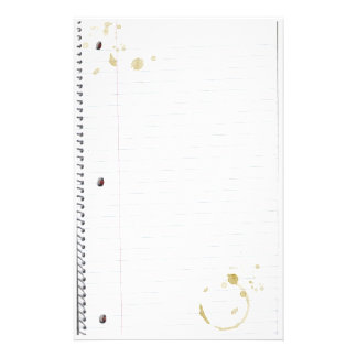 Coffee Stained Notebook Paper (Top 10)
