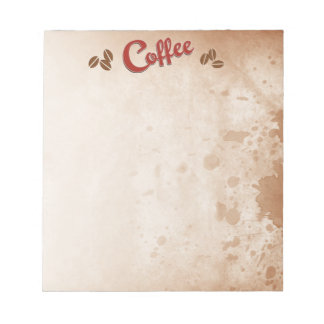 Coffee Stained Notepad