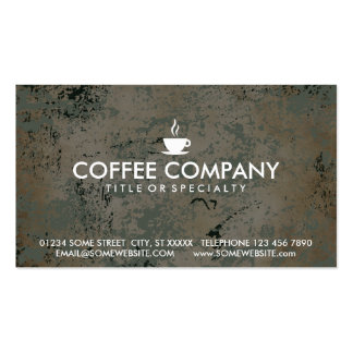 coffee stamp card business card template
