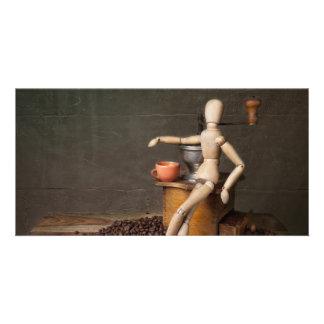 Coffee Still Life Custom Photo Card
