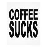 Coffee Sucks Personalised Flyer