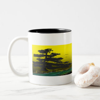 Coffee Sunrise Two-Tone Coffee Mug