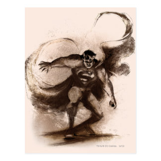 Coffee Superman Postcard