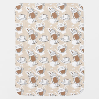 Coffee, sweet pattern baby blanket