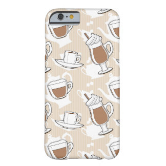Coffee, sweet pattern barely there iPhone 6 case