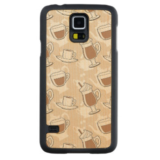 Coffee, sweet pattern carved maple galaxy s5 case