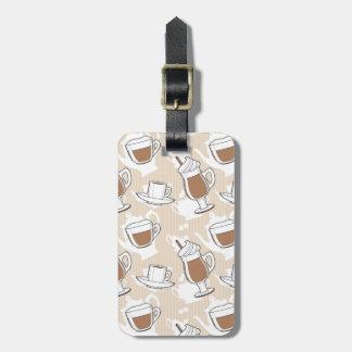 Coffee, sweet pattern luggage tag