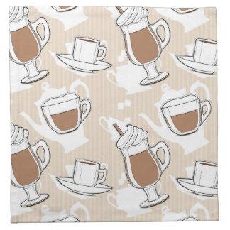 Coffee, sweet pattern napkin